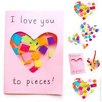 I love you to pieces Suncatcher Card