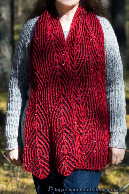 Speed Knitter Brioche Scarf