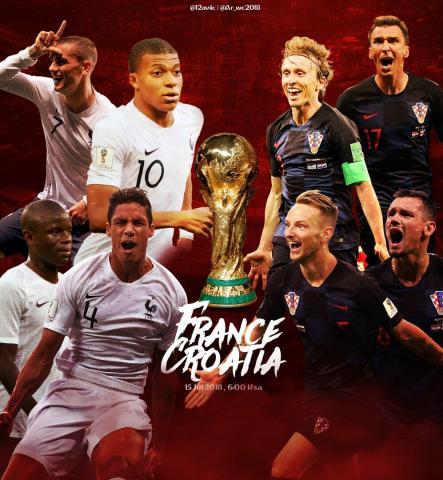 شاهد موعد وتوقيت نهائي كأس العالم والقنوات الناقلة لها