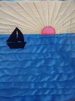 ProsperityStuff Block for Nautical Quilt: Sailboat in the Sunset