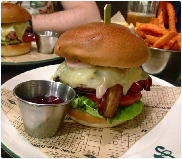 The Christmas Burger - All Star Lanes, Manchester