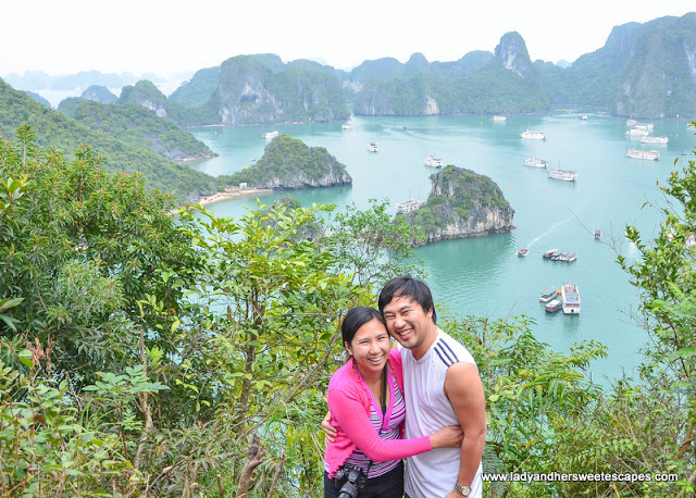 Ed and Lady in Ha Long Bay