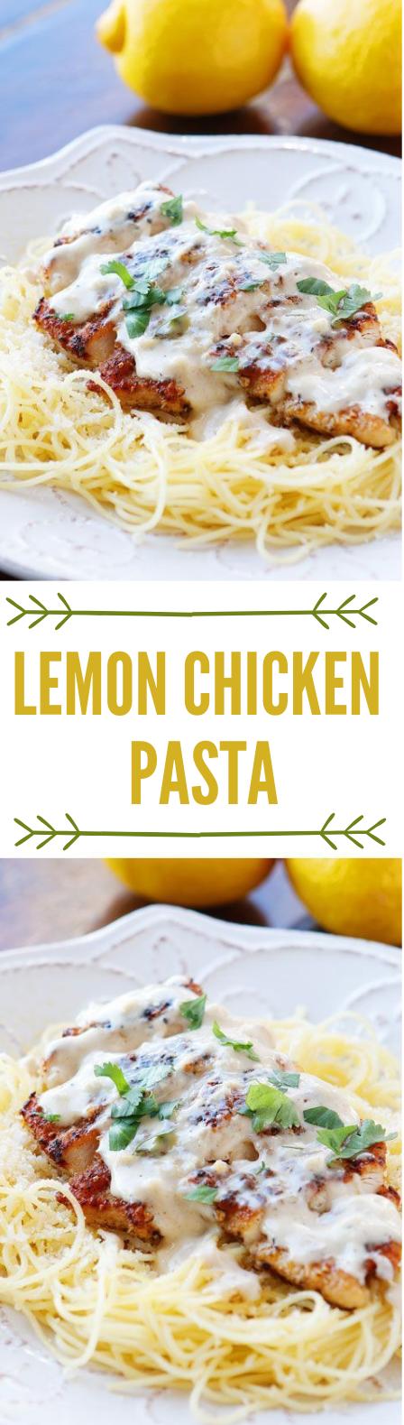 Lemon Chicken Pasta #lemon #dinner