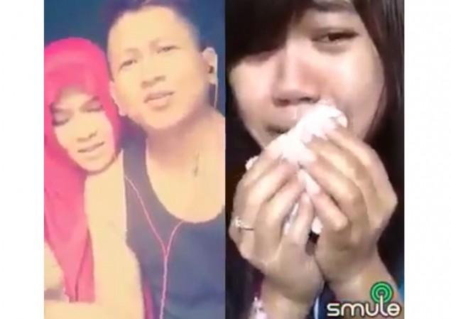 Menangis Duet Dengan Mantan via Smule, Video Ini jadi Viral di Facebook.