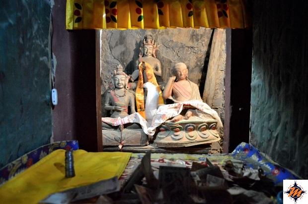 Lamayuru, Yungdrung Gompa. Naropa Cave