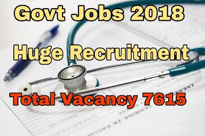Govt Jobs 2018 huge Recruitment in Health Department of Westbangal