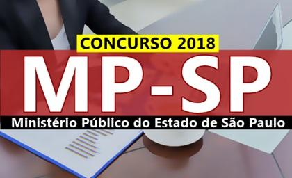Edital Concurso MP-SP 2018