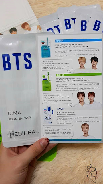 Review; Mediheal X BTS' Moisture Barrier Care Special Set; D:NA Proatin Mask