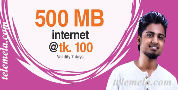 banglalink 500 mb internet 100 tk
