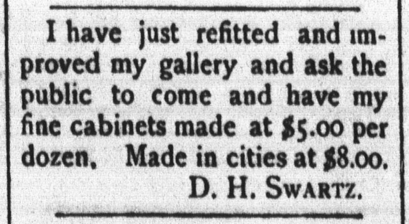 Colorado (TX) Citizen News Item Swartz (David) Sells Out To Freeman And  Moves To Fort Worth 1887. Denison (TX) City Directory Freeman, Swartz NOT  In ...