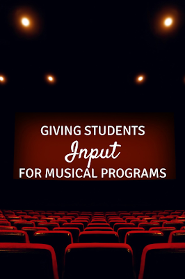 Giving students input for musical programs: Ideas for giving students ownership for their performance!