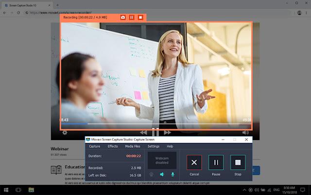 Movavi Screen Capture Pro Free Download 2020
