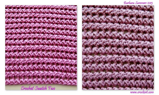 how to half double crochet paired, how to crochet, free crochet patterns, crochet swatches, facecloths, washcloths,