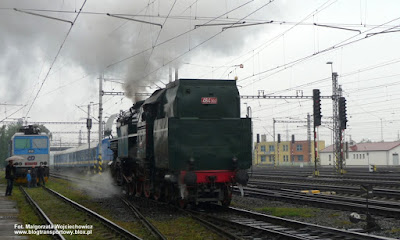 """Parowóz 464.202 """"rosnička"""", lokomotywownia Bohumin"""