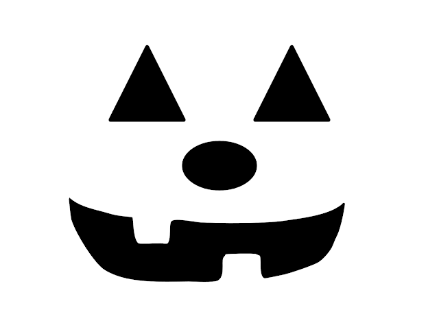 cool funny jack o lantern face design pattern templates for download