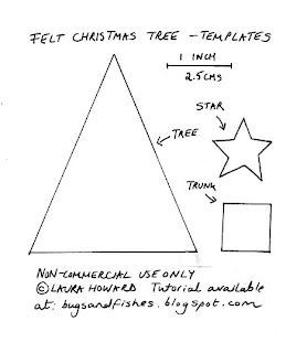 templates for felt Christmas tree sewing tutorial