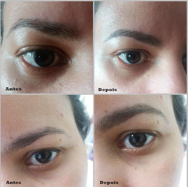 lápis para sobrancelhas da YES! Cosmetics: Sobrancelhas desenhadas e preenchidas