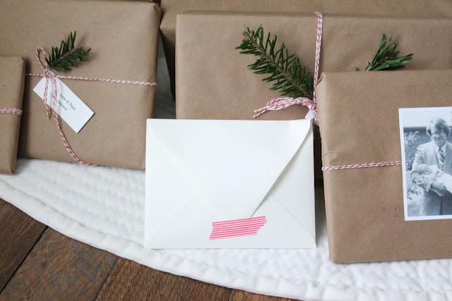 easy holiday gift wrap idea via www.julieblanner.com