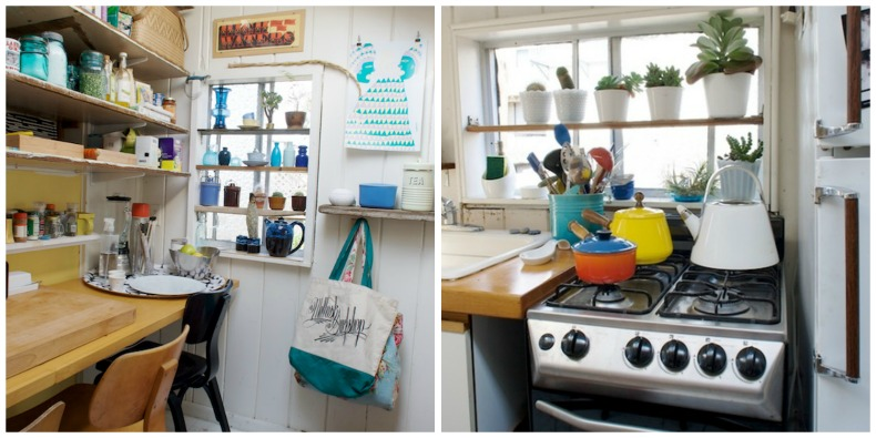 Coastal beach bungalow kitchen
