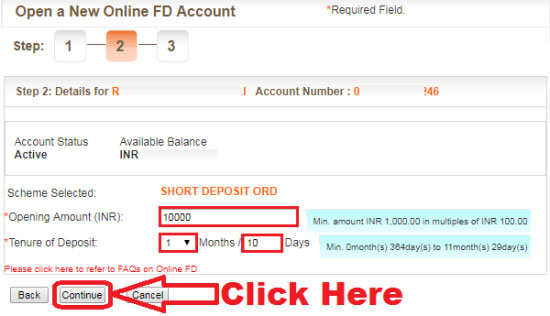 how to do fd in bank of baroda online
