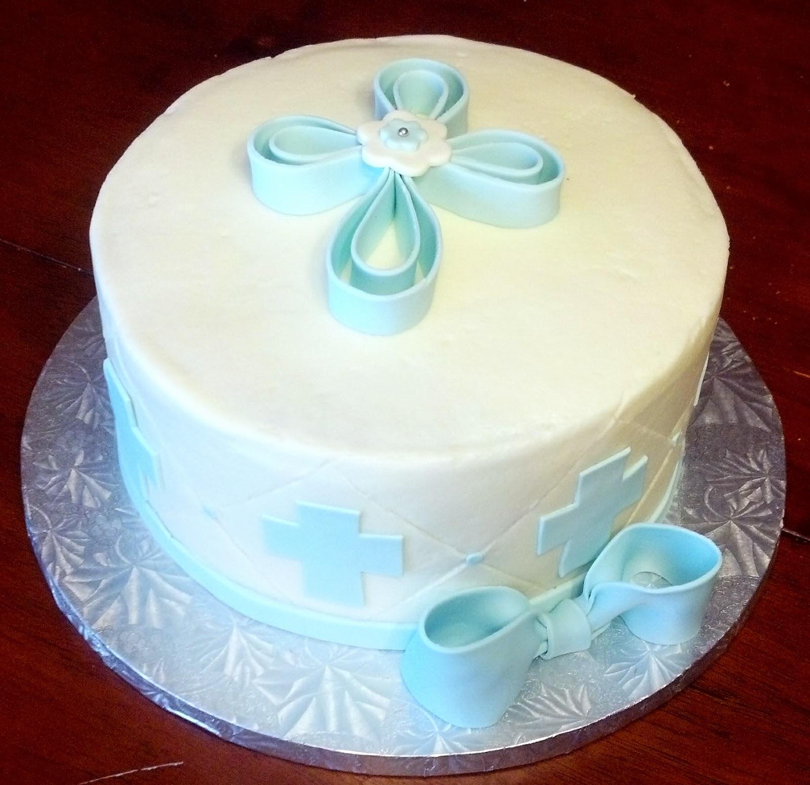 Baby Dedication Cake