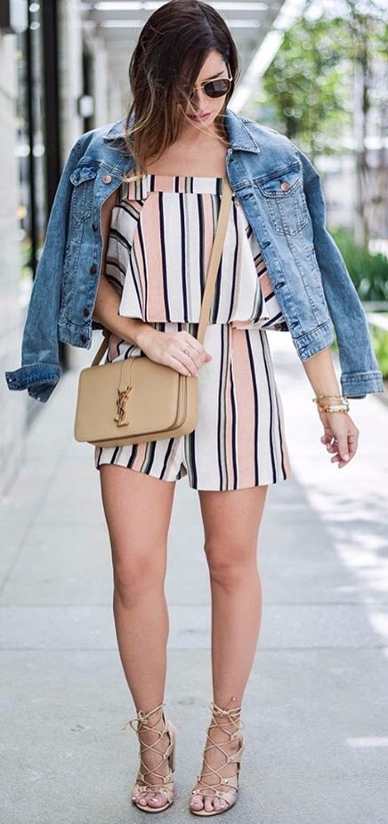 how to wear stripes with denim