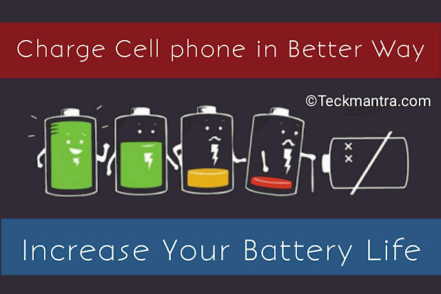 Charge your cell phone in better way
