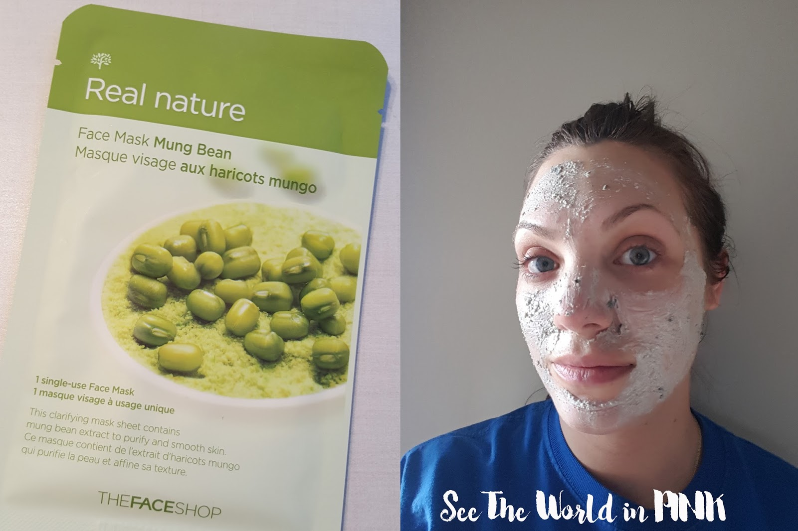 the faceshop real nature mung bean mask and lush bb seaweed fresh face mask