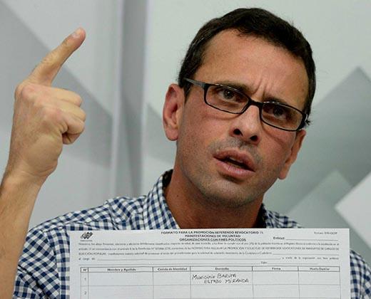 Capriles a Tibisay Lucena: Finalizó el lapso del revocatorio y ya contaron las firmas necesarias