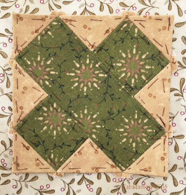 Dear Jane Quilt - Block A8 Florence Nightingale