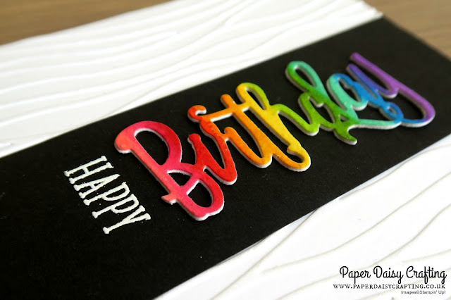 Rainbow Happy Birthday thinlits die card with Stampin Up