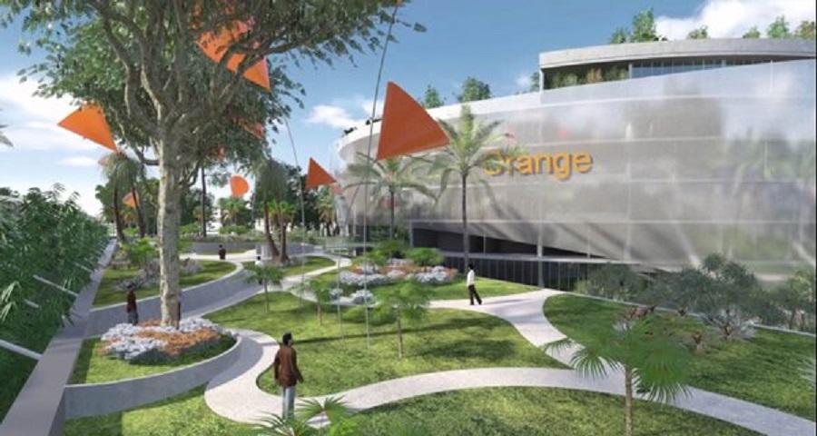 d couvrez les magnifiques images du futur nouveau si ge de orange c te d 39 ivoire abidjan. Black Bedroom Furniture Sets. Home Design Ideas
