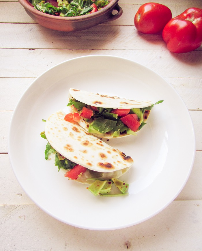 Quesadillas Con Vegetales Frescos