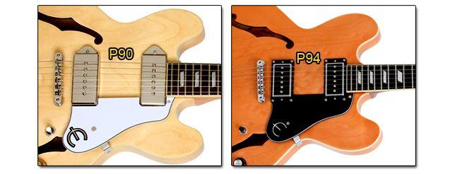 Pastillas P90 y P94 en Guitarra ES-335