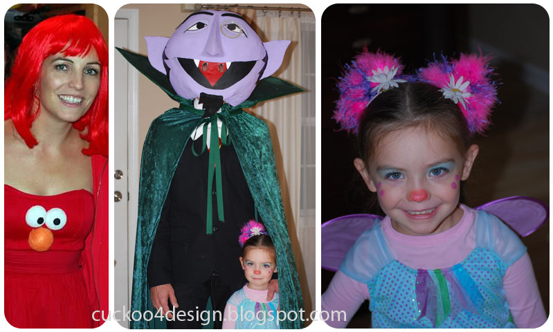 Sesame Stree Family Costume Theme. Elmo Count and Abby Cadabby  sc 1 st  Cuckoo4Design & Costume Ideas | Cuckoo4Design