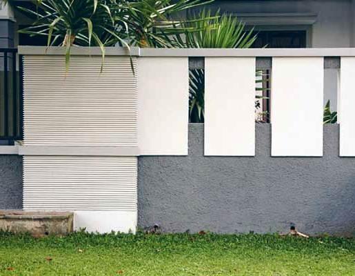 Gambar Pagar Tembok Minimalis Cantik Sederhana