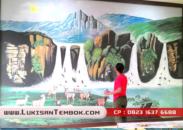 14 GAMBAR] Lukisan Dinding Yang Realistik | AmazingNara ...
