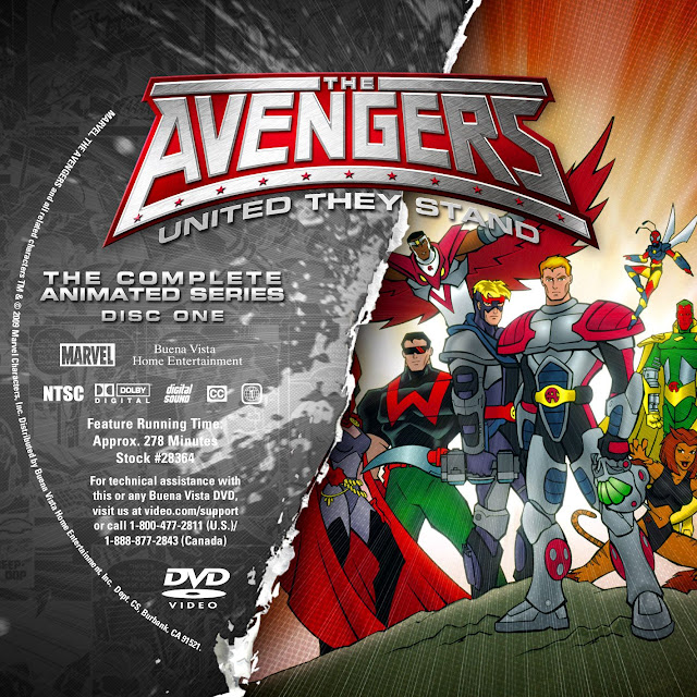 The Avengers United They Stand Disc 1 DVD Label