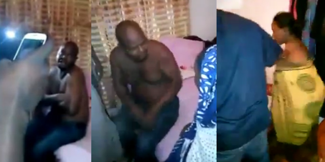 Man caught red-handed sleeping with neighbor's wife