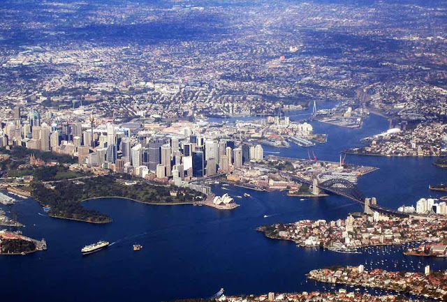 Vista aérea de Sydney