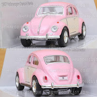 Miniatur Mobil VW Beetle / Kodok Two Colors
