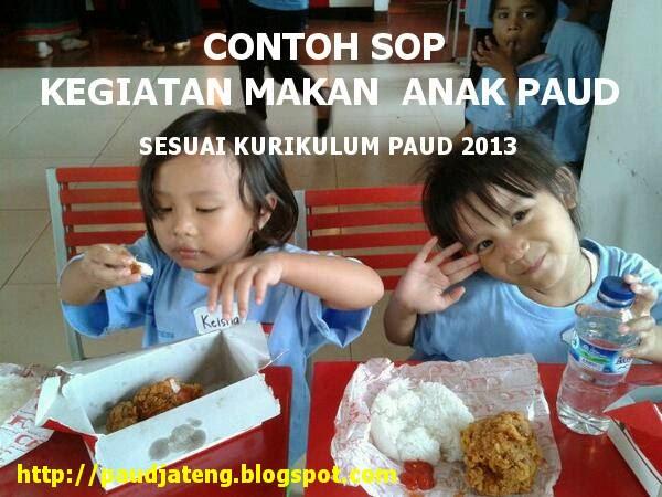 contoh sop paud kegiatan makan tk kb paud