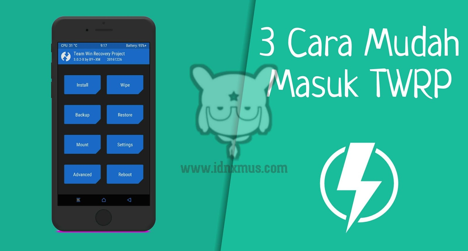 Masuk TWRP Recovery