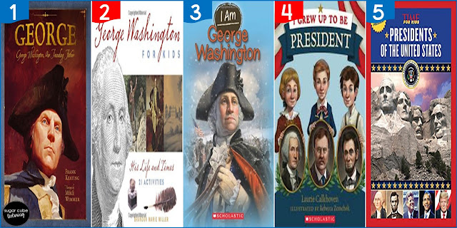 5 books about George Washington for Presidents' Day