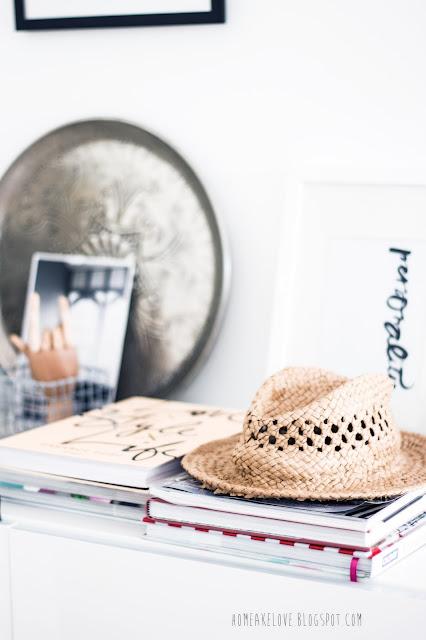 interior,Sommer in den eigenen vier Wänden, decorblog,germaninteriorblogger,mit Strohhut dekorieren, Lieblingsbücher, skandinavisches Design, skandinavisch einrichten