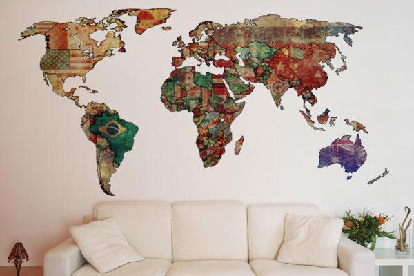 ambientes decorados com mapas 5 - A elegância dos Mapas na decoração de Ambientes