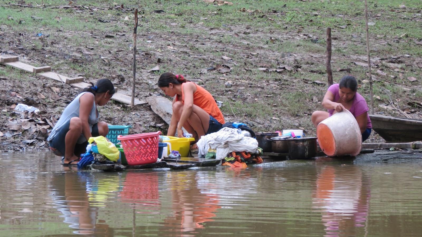 river bathing women without dress