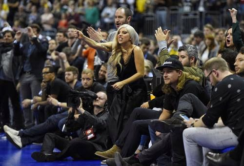 Lady GaGa is in Berlin to Basketball Fan