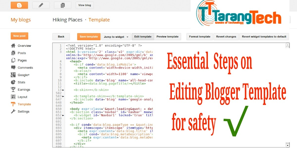 essential safety steps to follow on editing blogger template