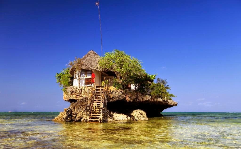the rock restaurant zanzibar